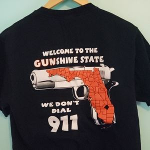 Florida gun rights tee shirt men's medium